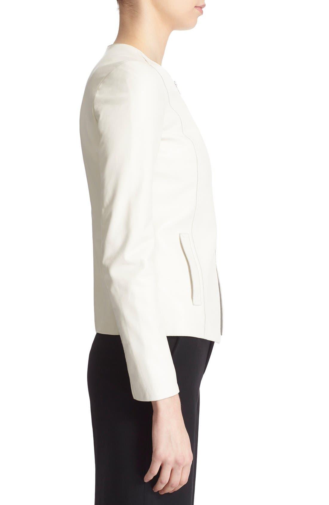 Alternate Image 3  - Vince Tailored Leather Jacket