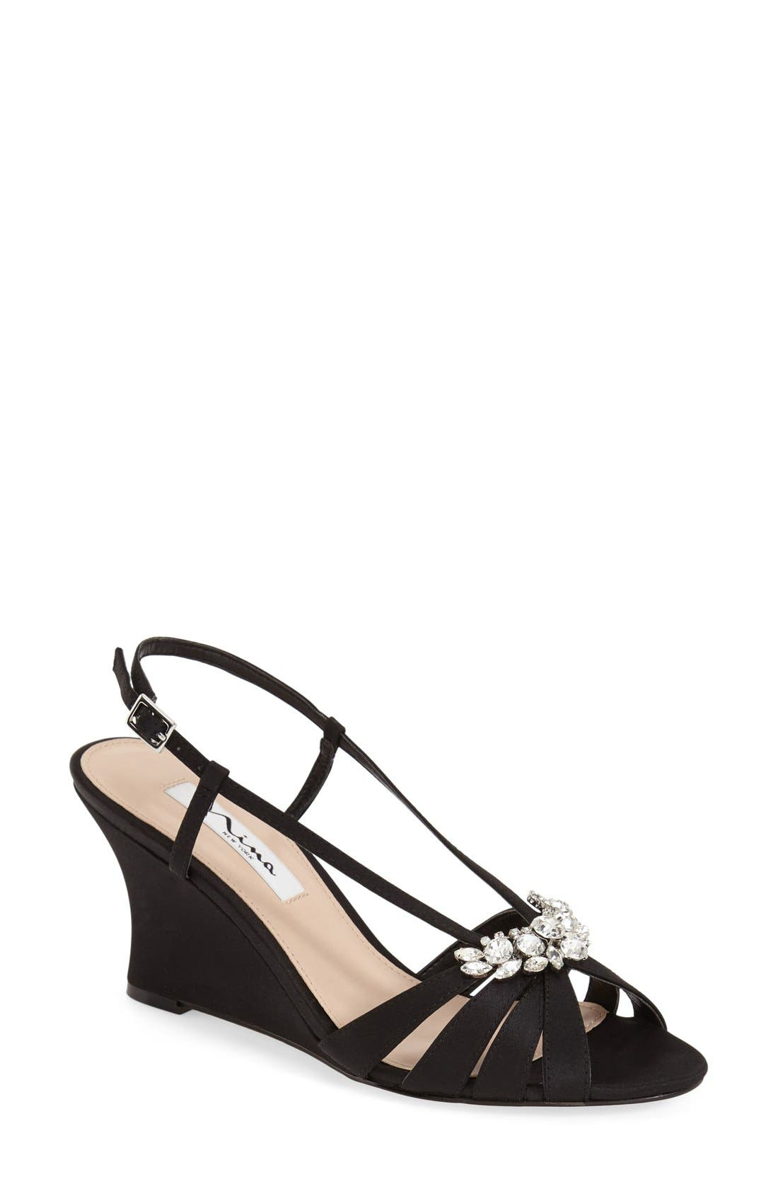 Alternate Image 1 Selected - Nina 'Voleta' Wedge Sandal (Women)
