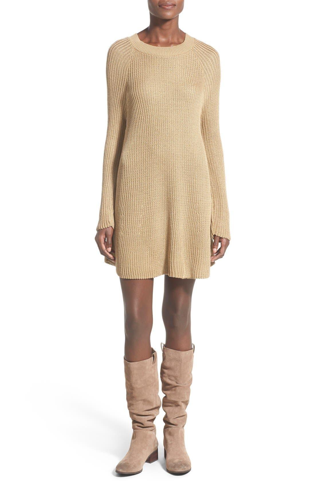 Alternate Image 1 Selected - Cotton Emporium Crewneck Sweater Dress