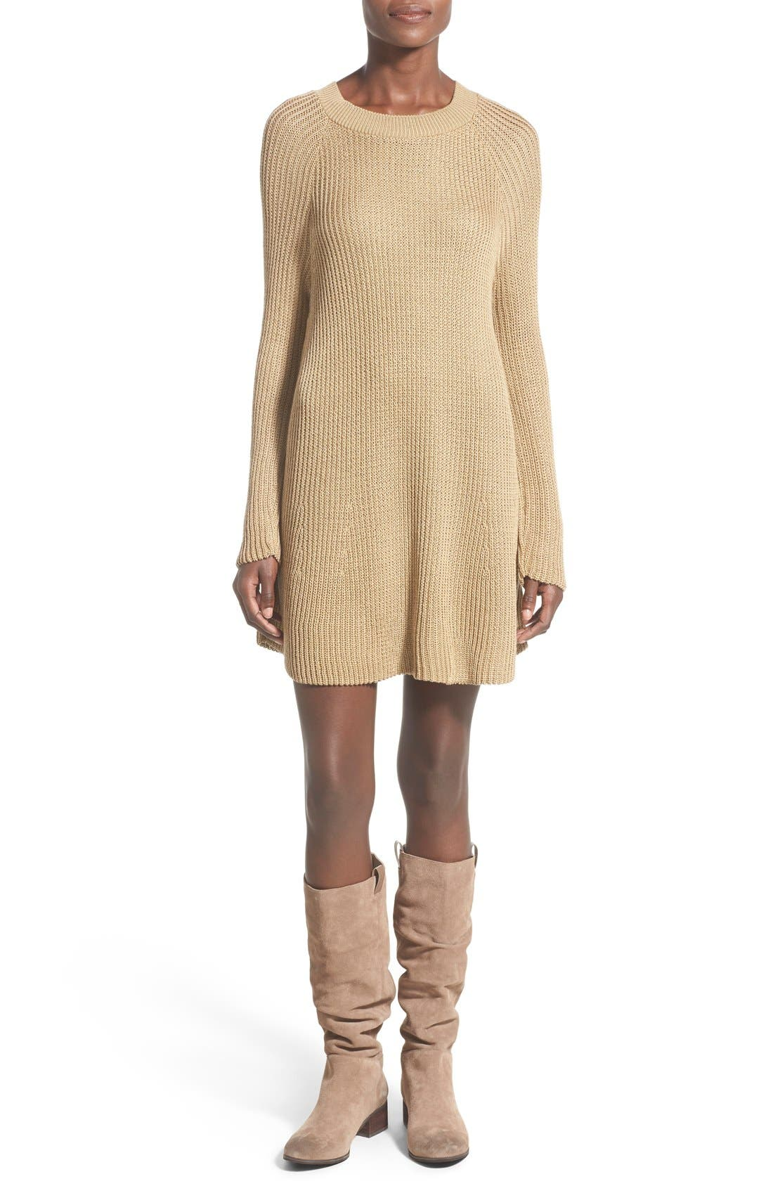 Main Image - Cotton Emporium Crewneck Sweater Dress