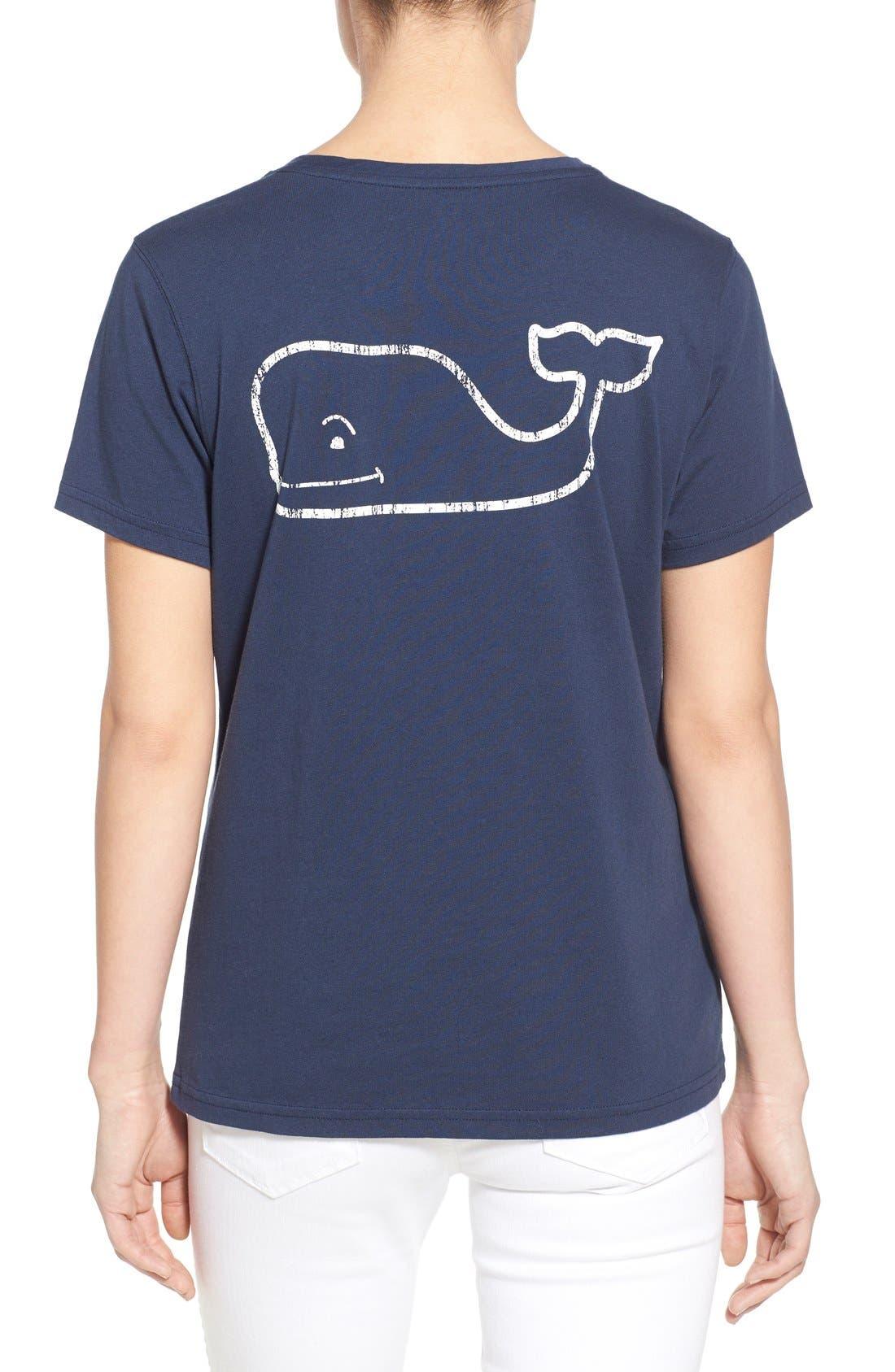 Whale Graphic Short Sleeve Pocket Tee,                             Alternate thumbnail 2, color,                             Blue Blaze