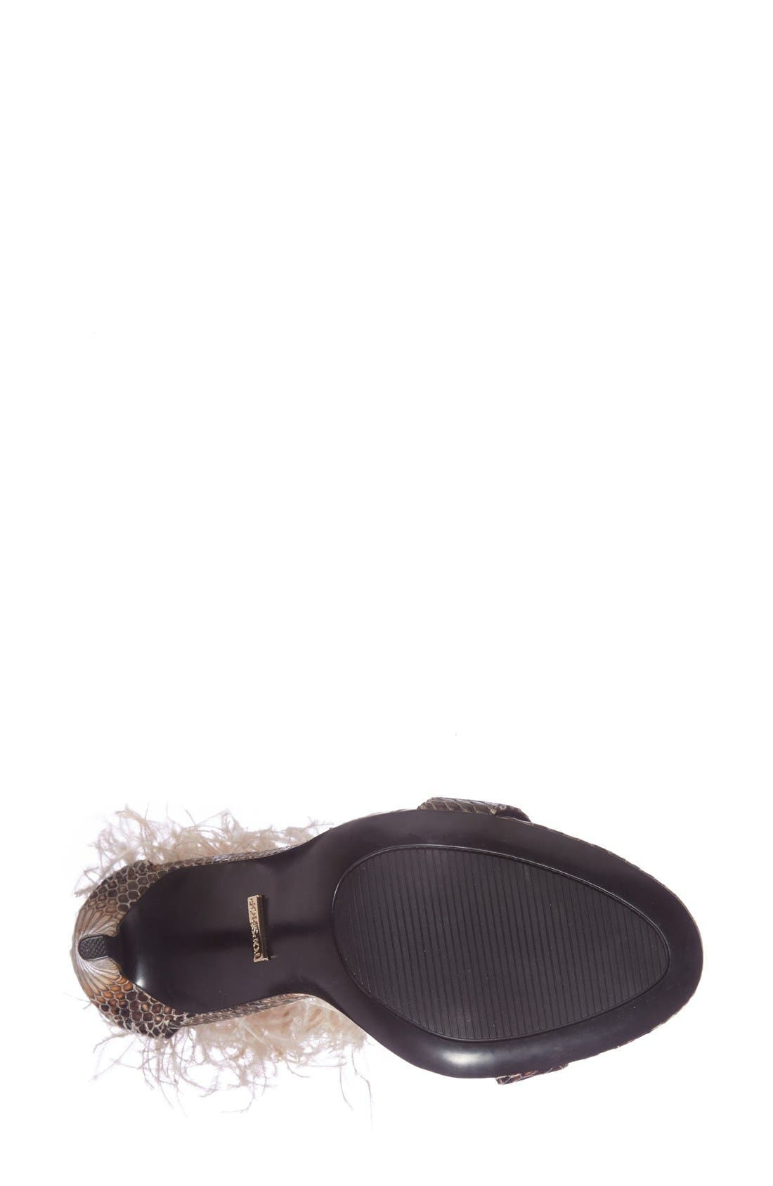 Alternate Image 4  - Topshop 'Ravenous' Feather Sandal (Women)