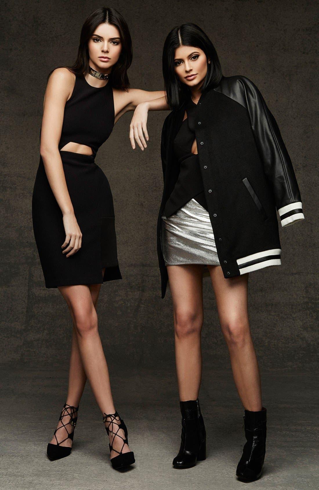 Alternate Image 8  - KENDALL + KYLIE at Topshop Metallic Leather Miniskirt