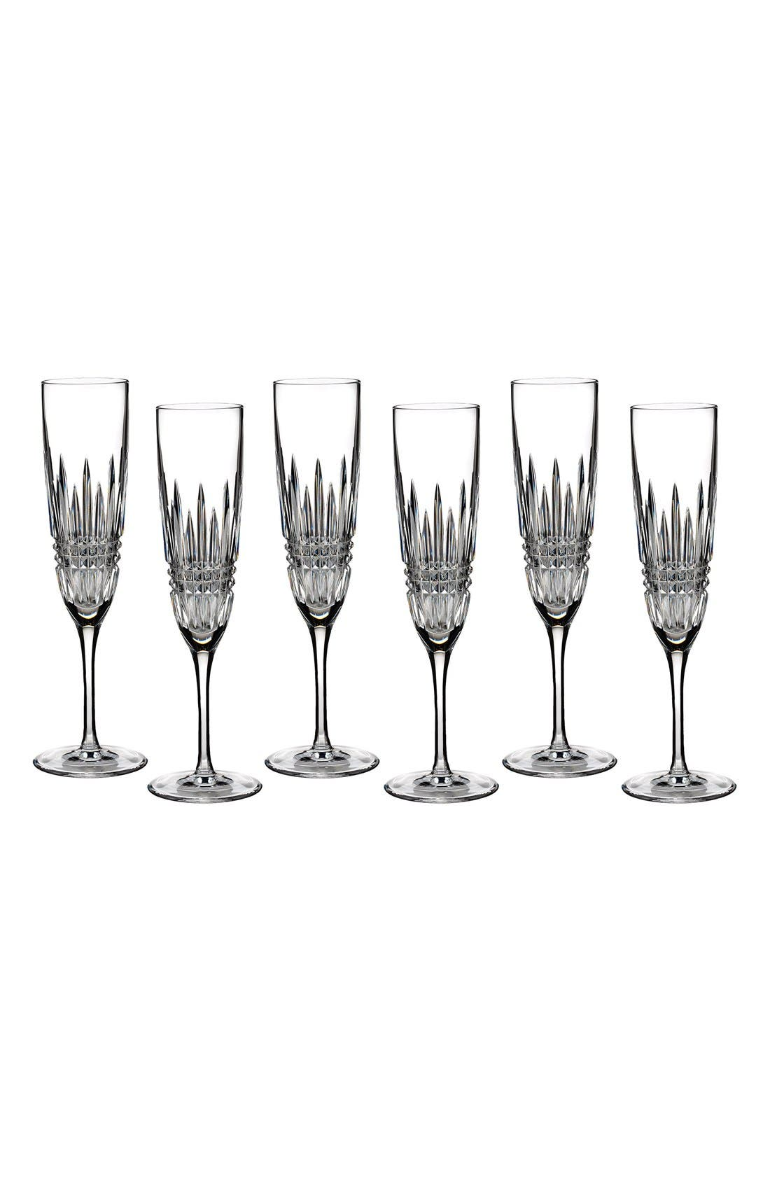 Waterford 'Lismore Diamond' Toasting Flutes (Set of 6)