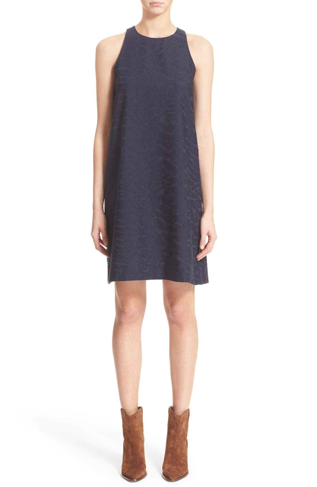 Alternate Image 1 Selected - Vince Fil Coupé Sleeveless Shift Dress (Nordstrom Exclusive)