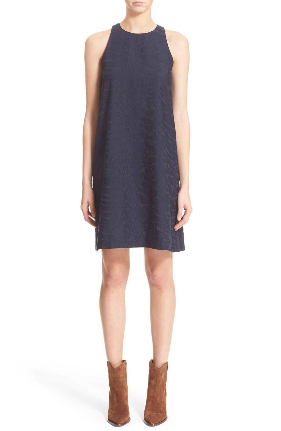 Main Image - Vince Fil Coupé Sleeveless Shift Dress (Nordstrom Exclusive)