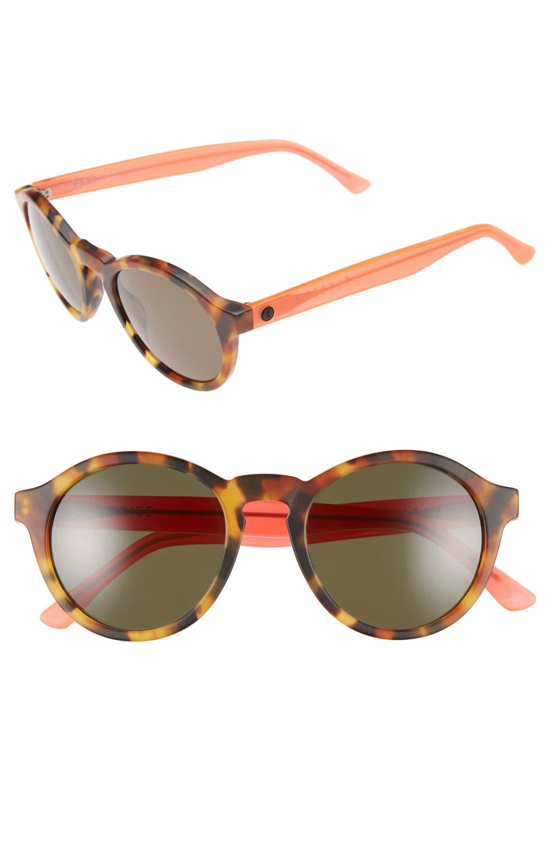 'Reprise' 50mm Round Sunglasses,                         Main,                         color, Matte Coral Tortoise/ Grey