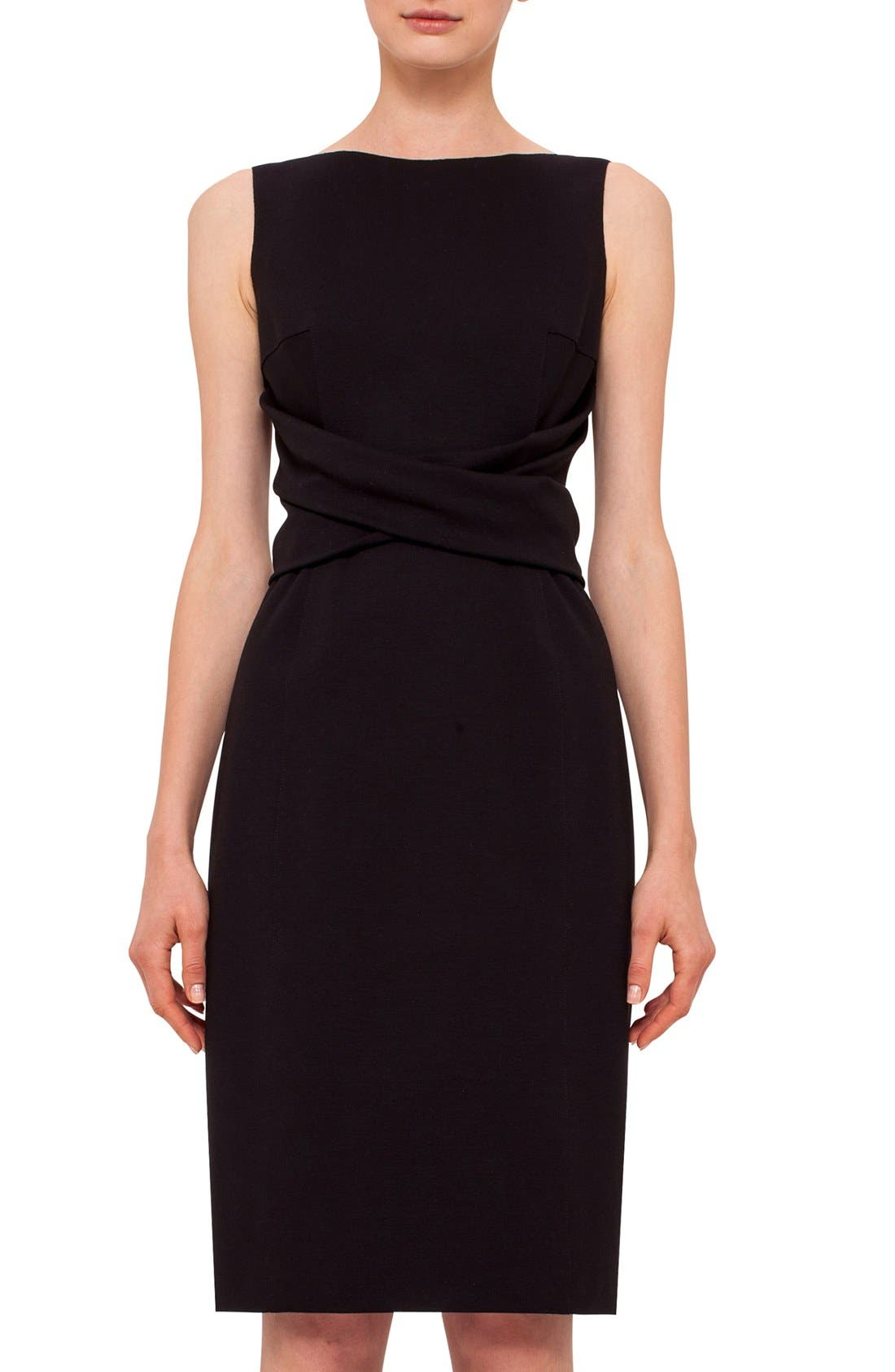 Alternate Image 3  - Akris punto Twist Front Sleeveless Jersey Sheath Dress