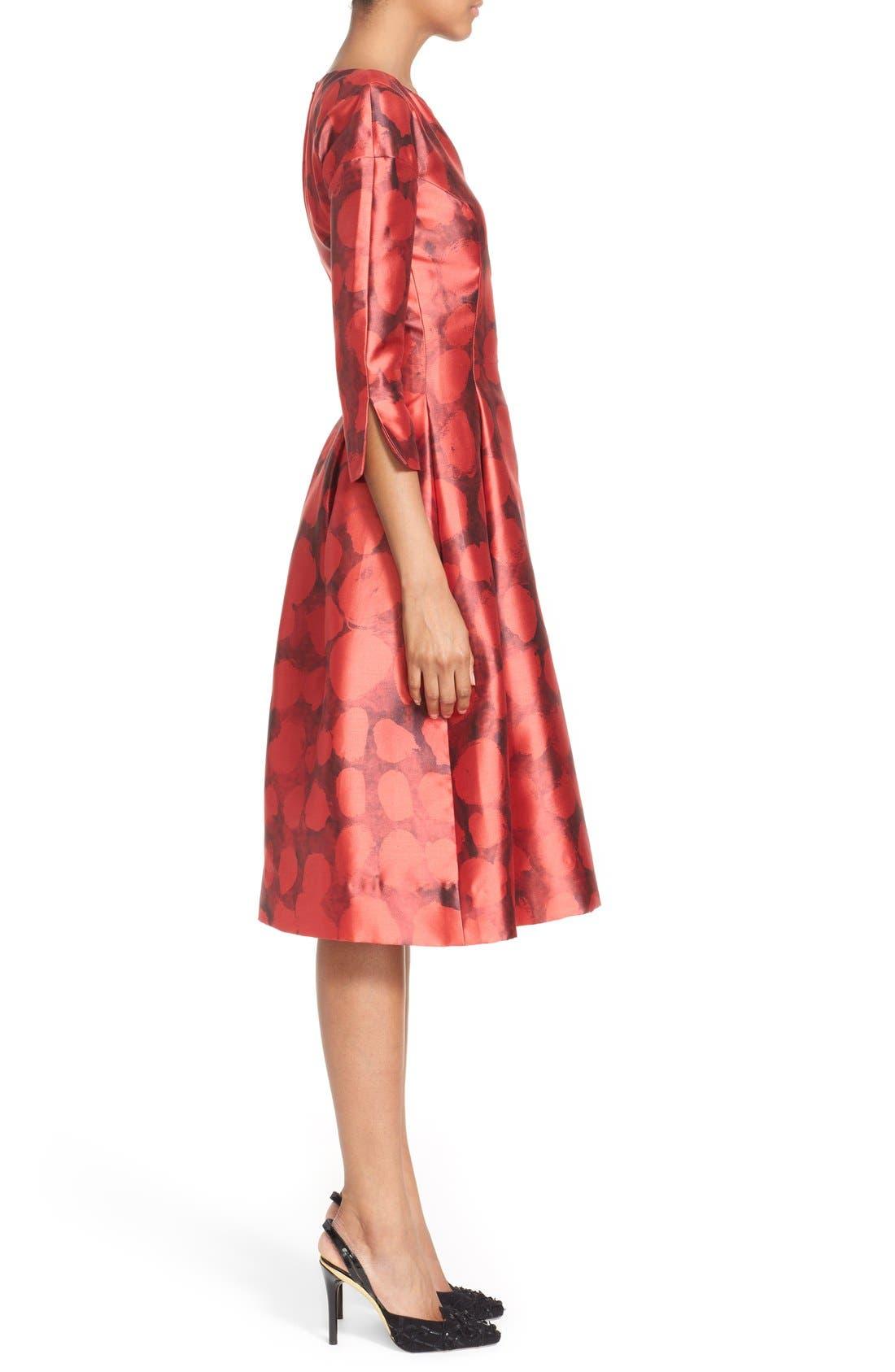 Alternate Image 5  - Oscar de la Renta Dot Print Silk & Cotton Dress