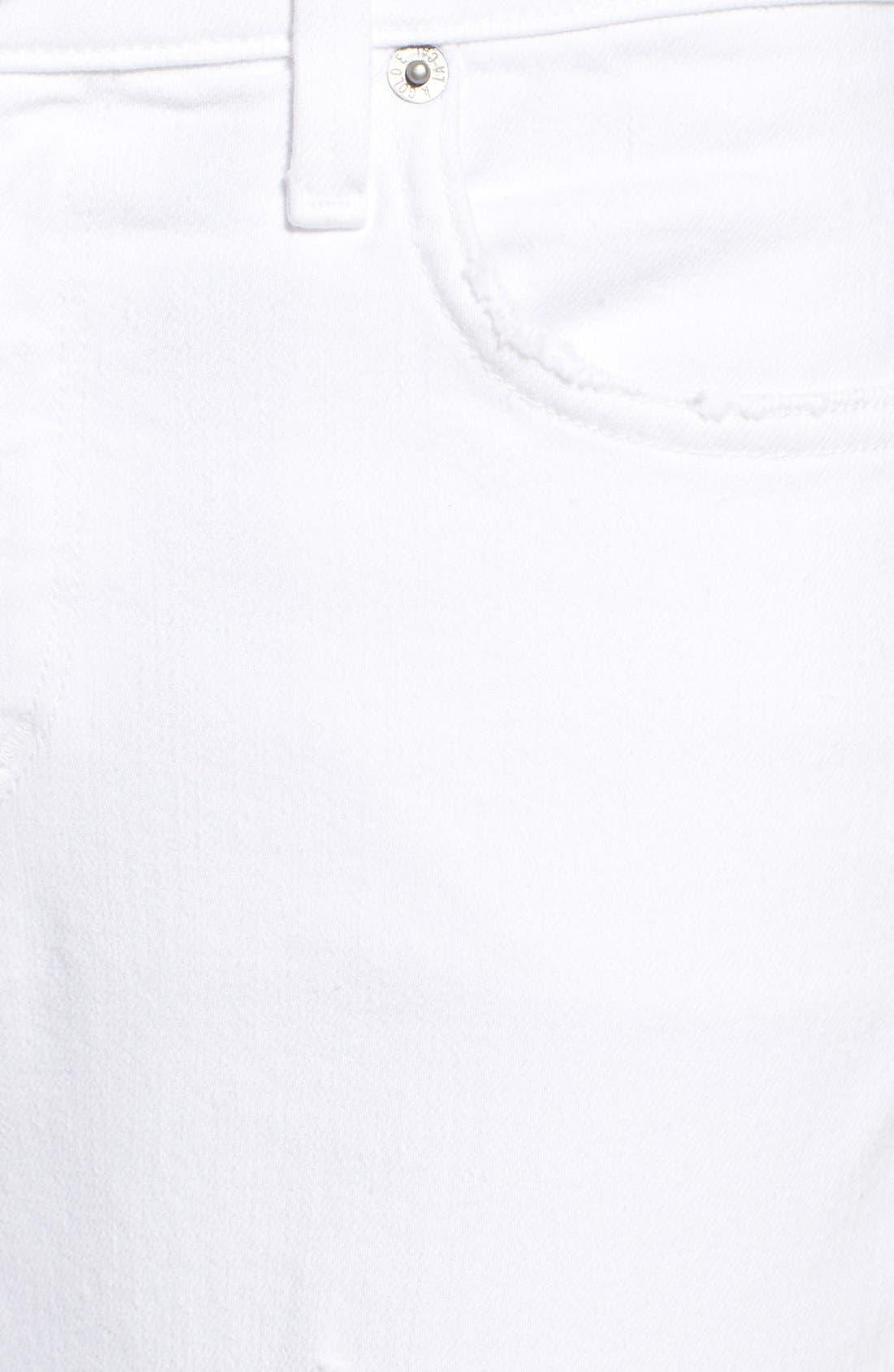 Alternate Image 5  - A Gold E 'Sophie' Distressed Crop Skinny Jeans (Off Spring)