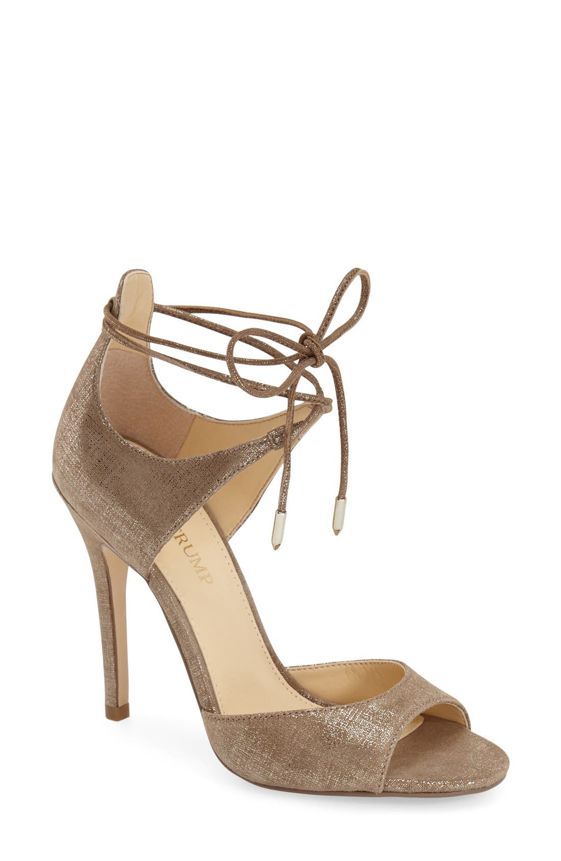 'Holidae' d'Orsay Sandal,                         Main,                         color, Gold Linen Suede