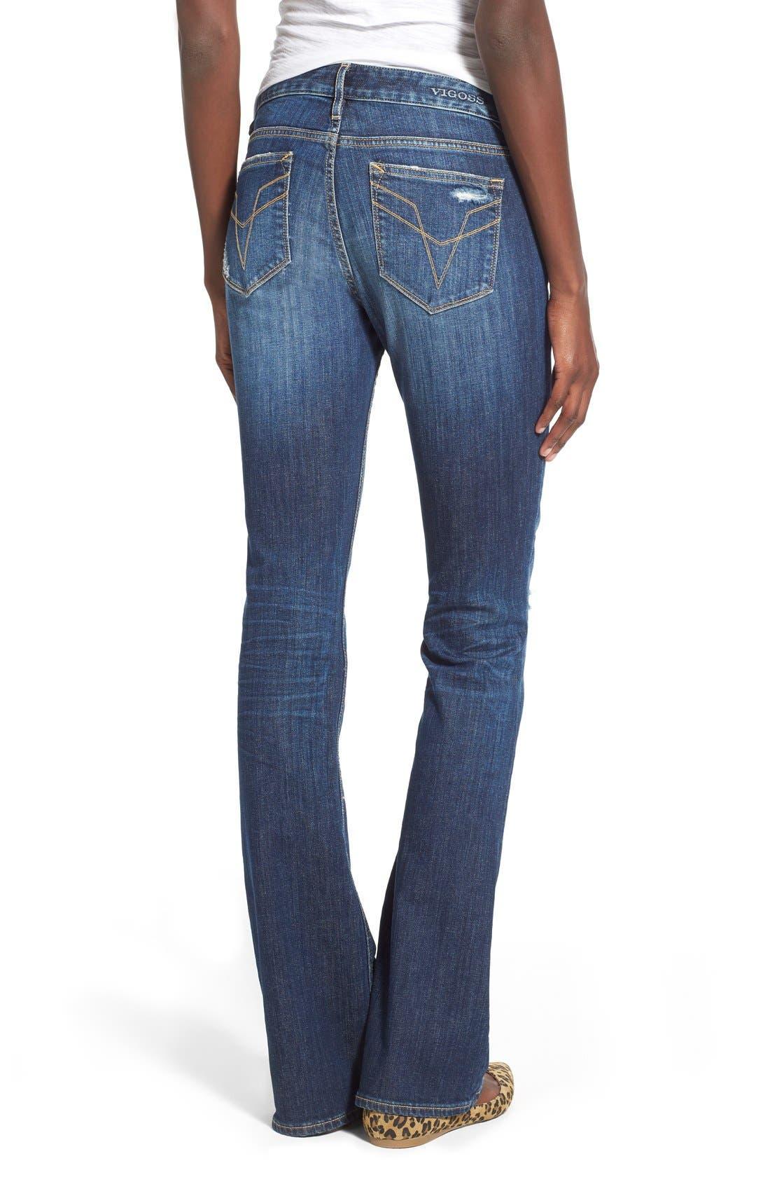 Alternate Image 2  - Vigoss 'Chelsea' Bootcut Jeans (Dark Wash)