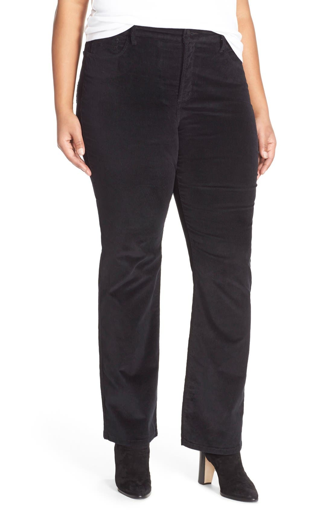 NYDJ 'Billie' Stretch Mini Bootcut Corduroy Pants (Plus Size)