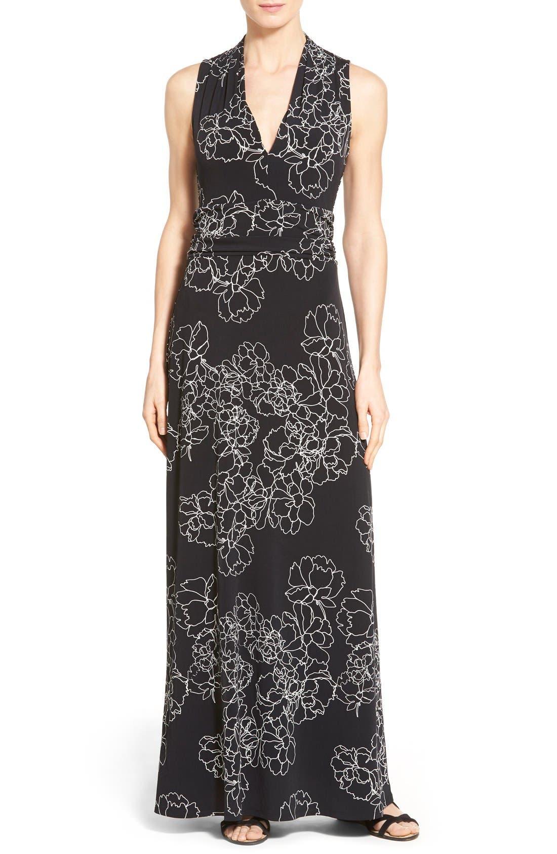 Main Image - Vince Camuto Floral Print Jersey Maxi Dress (Regular & Petite)