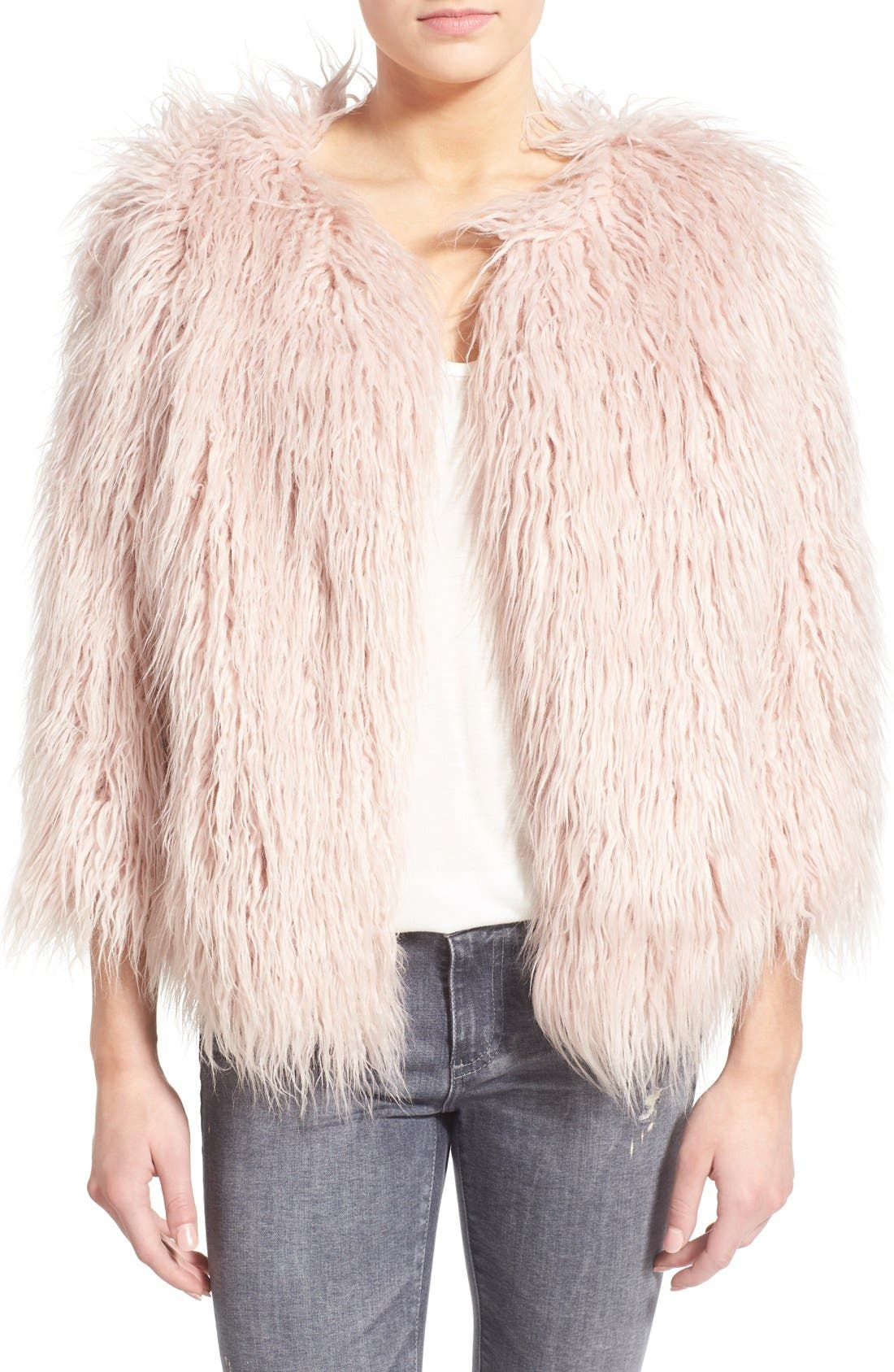 Alternate Image 1 Selected - Pam & Gela 'Mongolian' Faux Fur Coat