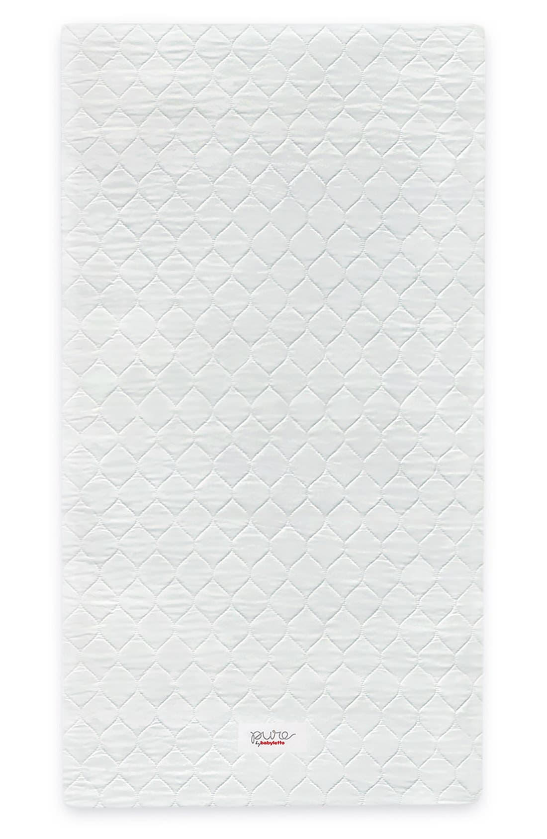 babyletto Pure Core Nontoxic Mini Crib Mattress & Hybrid Cover