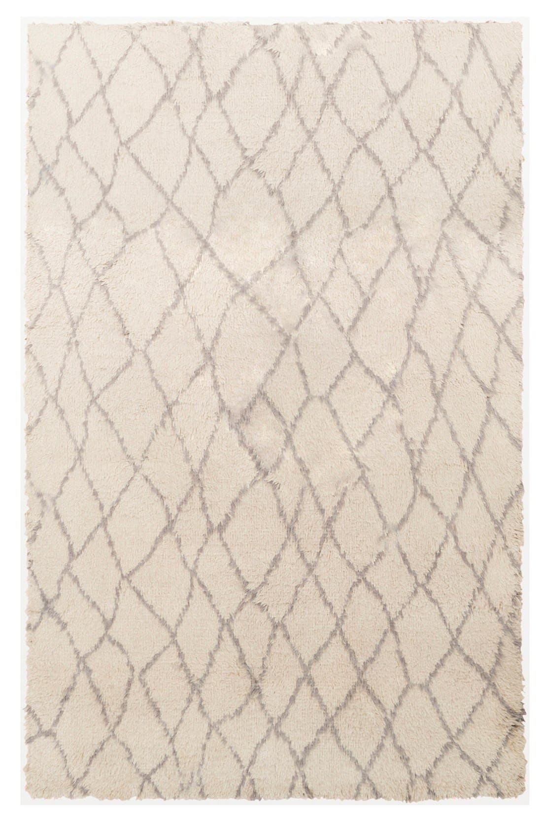 'Denali - Lines' Wool Rug,                             Main thumbnail 1, color,                             Beige/ Grey
