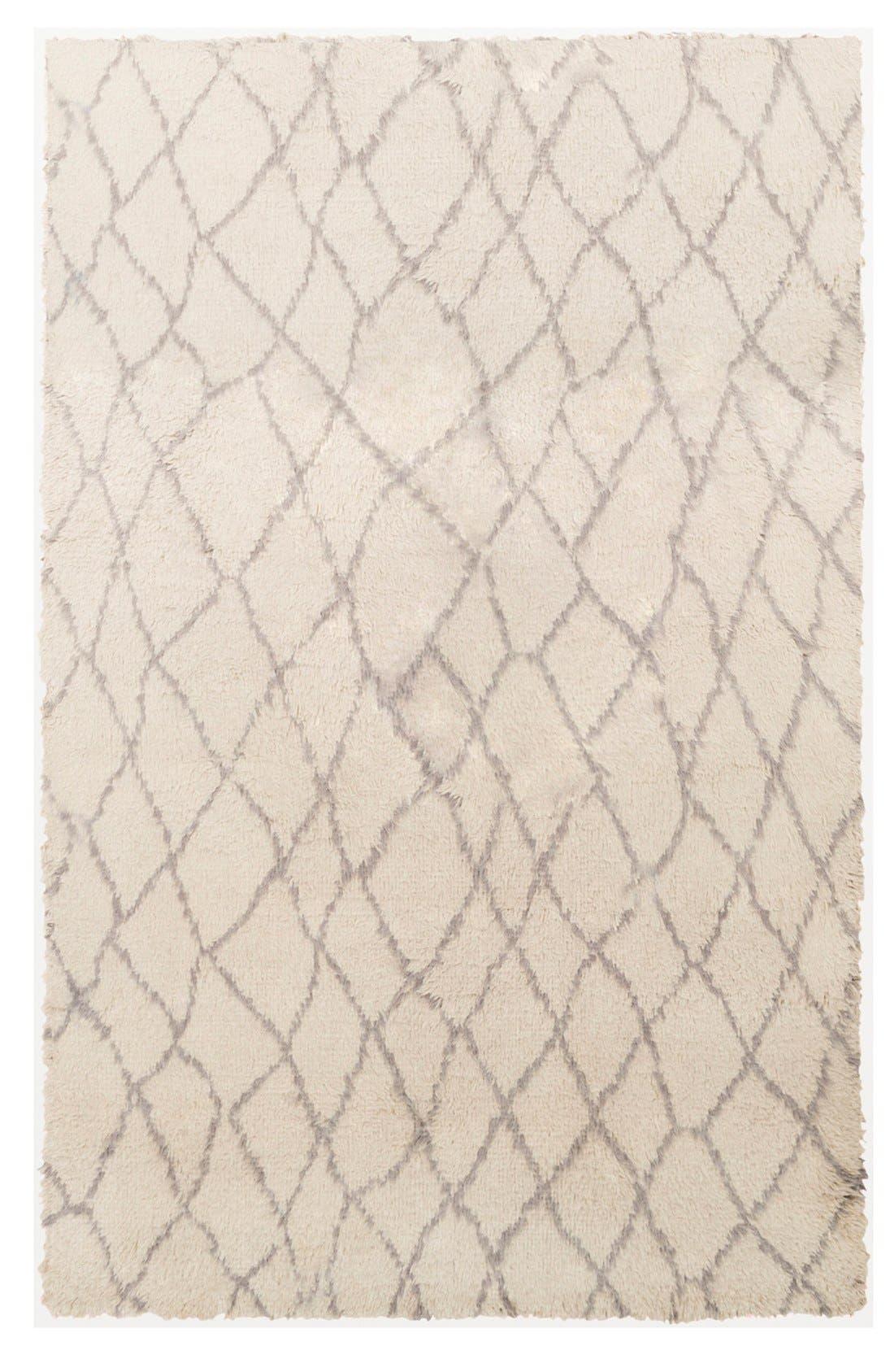 'Denali - Lines' Wool Rug,                         Main,                         color, Beige/ Grey