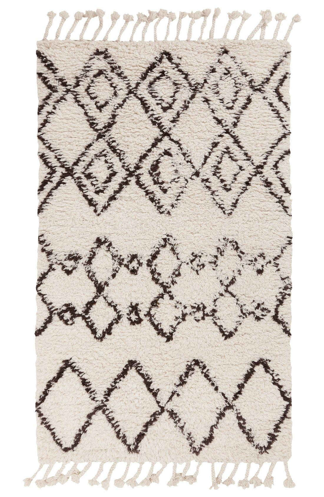'Sherpa' Wool Rug,                             Main thumbnail 1, color,                             Ivory/ Taupe