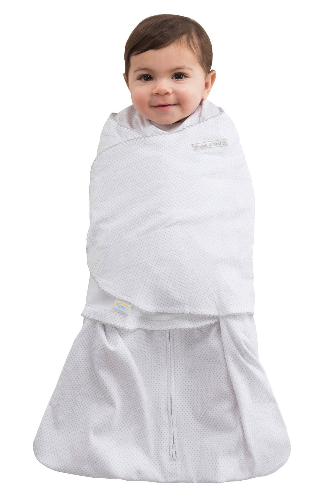 Wearable Swaddle Blanket,                         Main,                         color, Silver