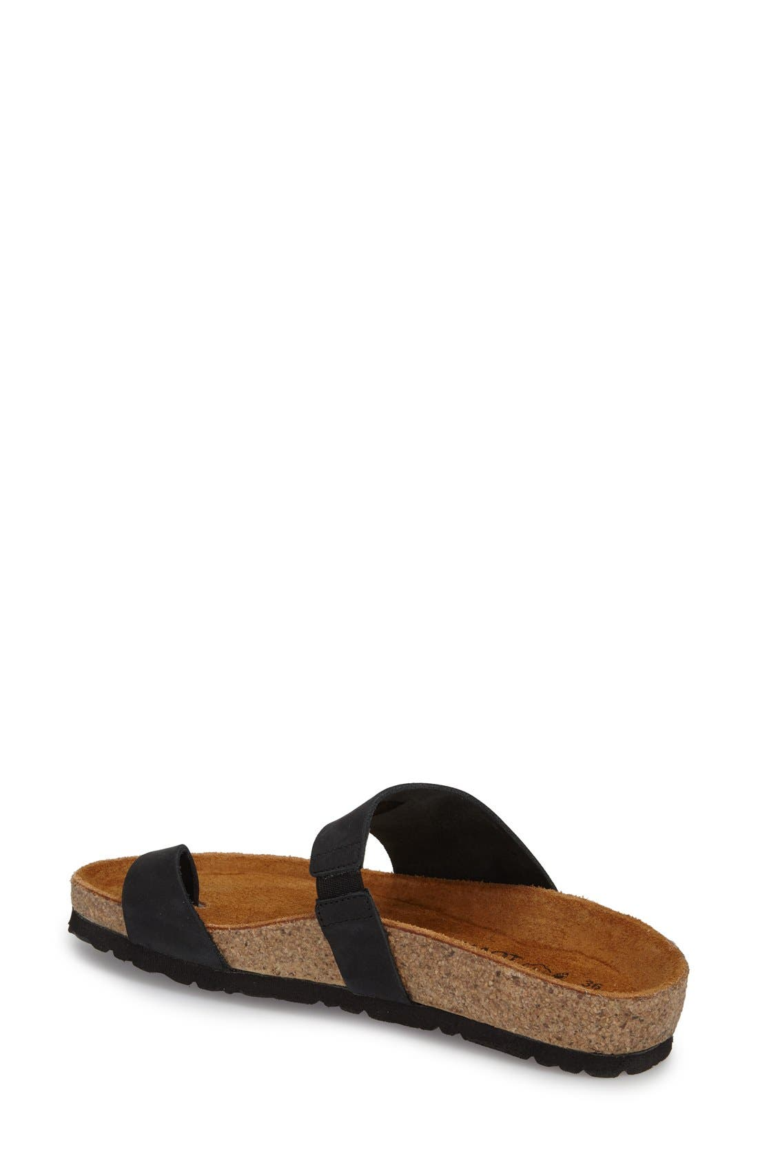 'Santa Fe' Sandal,                             Alternate thumbnail 2, color,                             Black Nubuck Leather