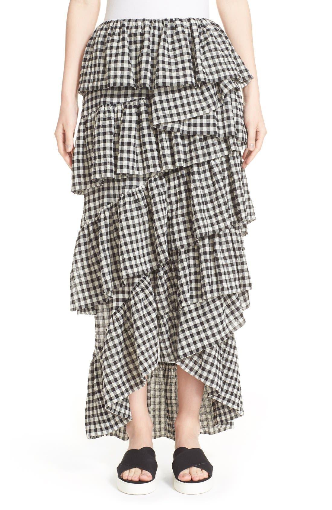 Alternate Image 1 Selected - Isa Arfen 'Full On' Tiered Ruffle Skirt