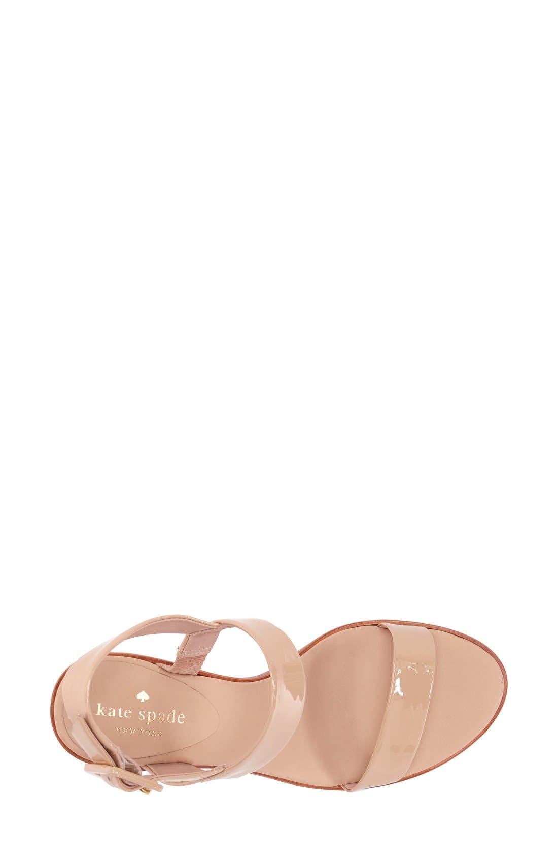 'nice' sandal,                             Alternate thumbnail 3, color,                             Nude Patent