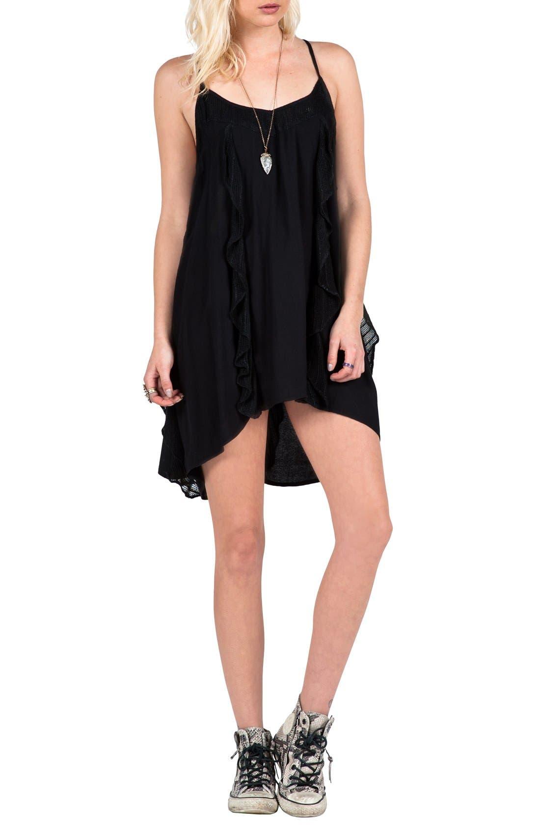 Main Image - Volcom 'Ruff Crowd' Strappy Slip Dress