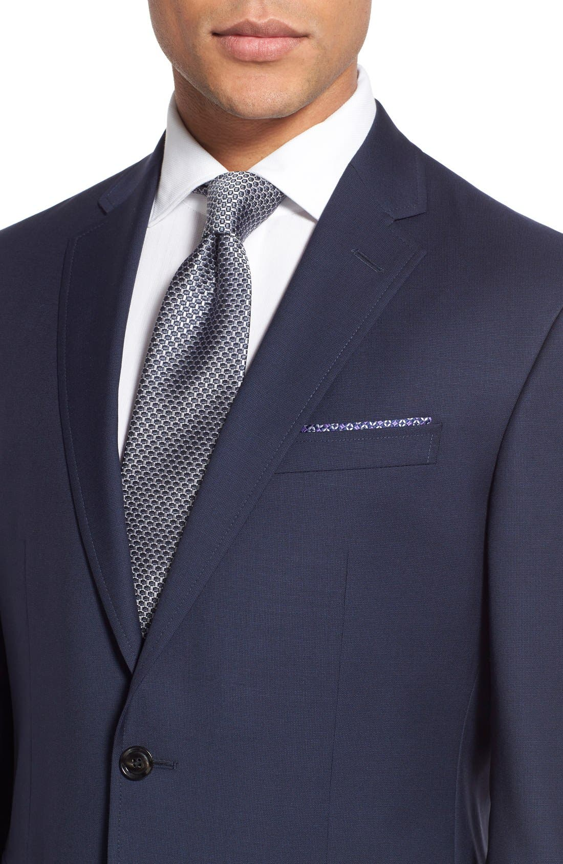 Trevi Trim Fit Wool Blazer,                             Alternate thumbnail 5, color,                             Navy