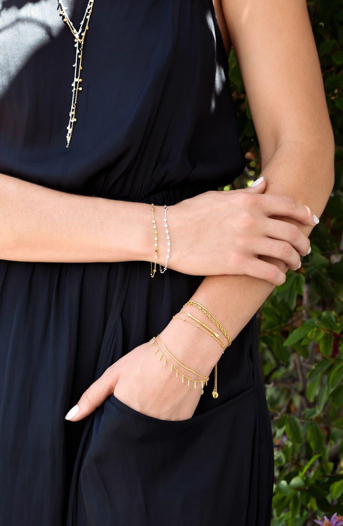 'Makenzie' Double Strand Bar Bracelet,                             Alternate thumbnail 4, color,                             Gold