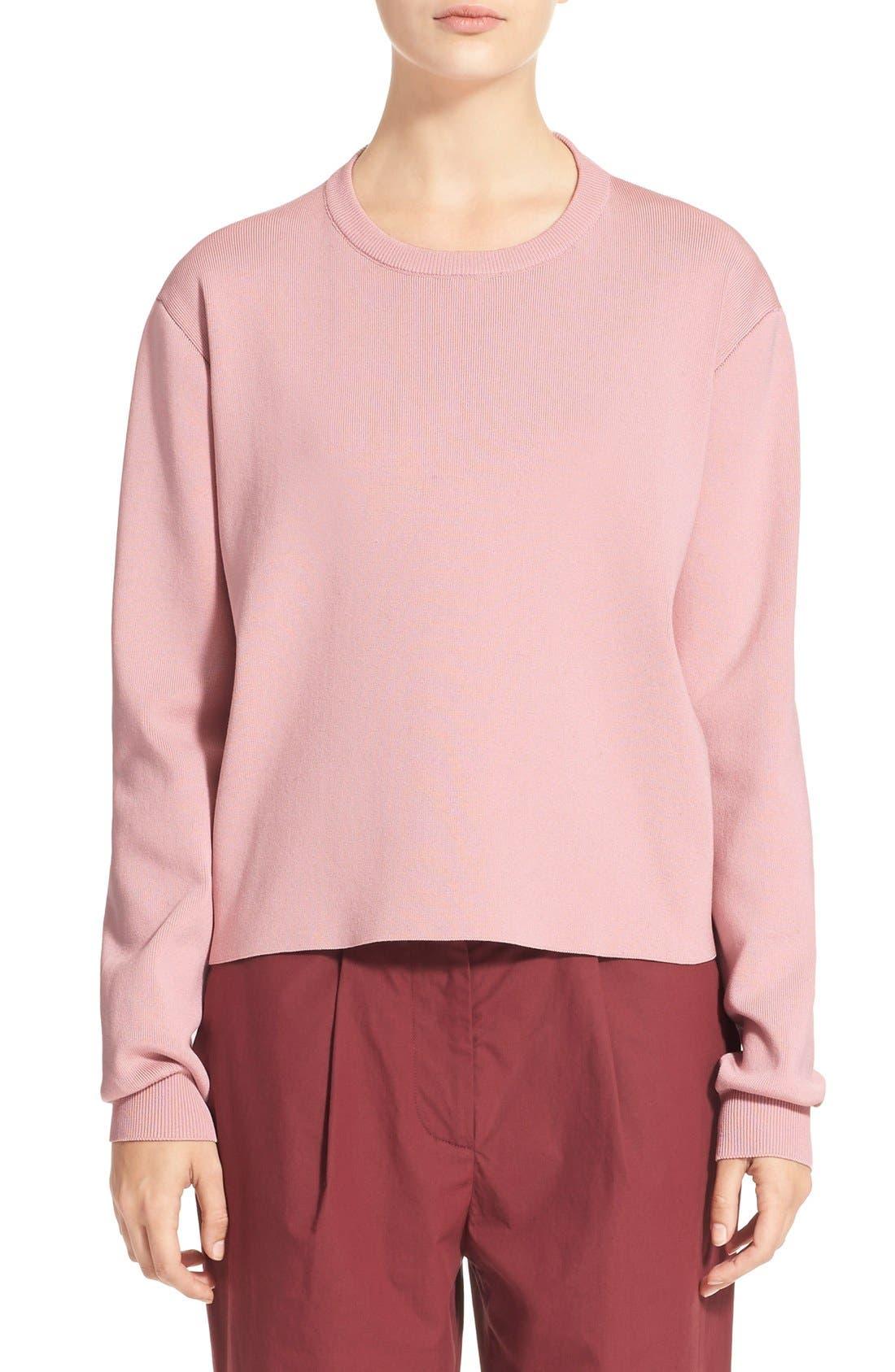 Main Image - ACNE 'Misty Clean' Cotton Crewneck Sweater