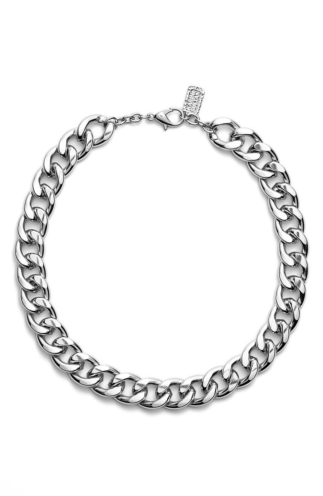 Alternate Image 1 Selected - Karine Sultan Curb Chain Collar Necklace