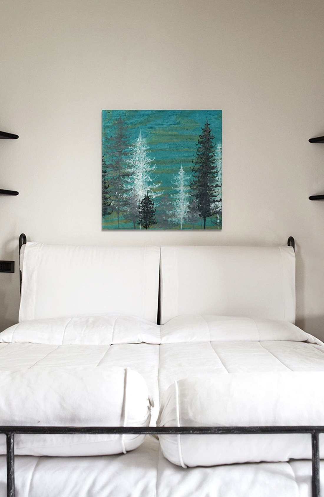 'Teal Trees' Giclée Print Canvas Art,                             Alternate thumbnail 2, color,                             Green