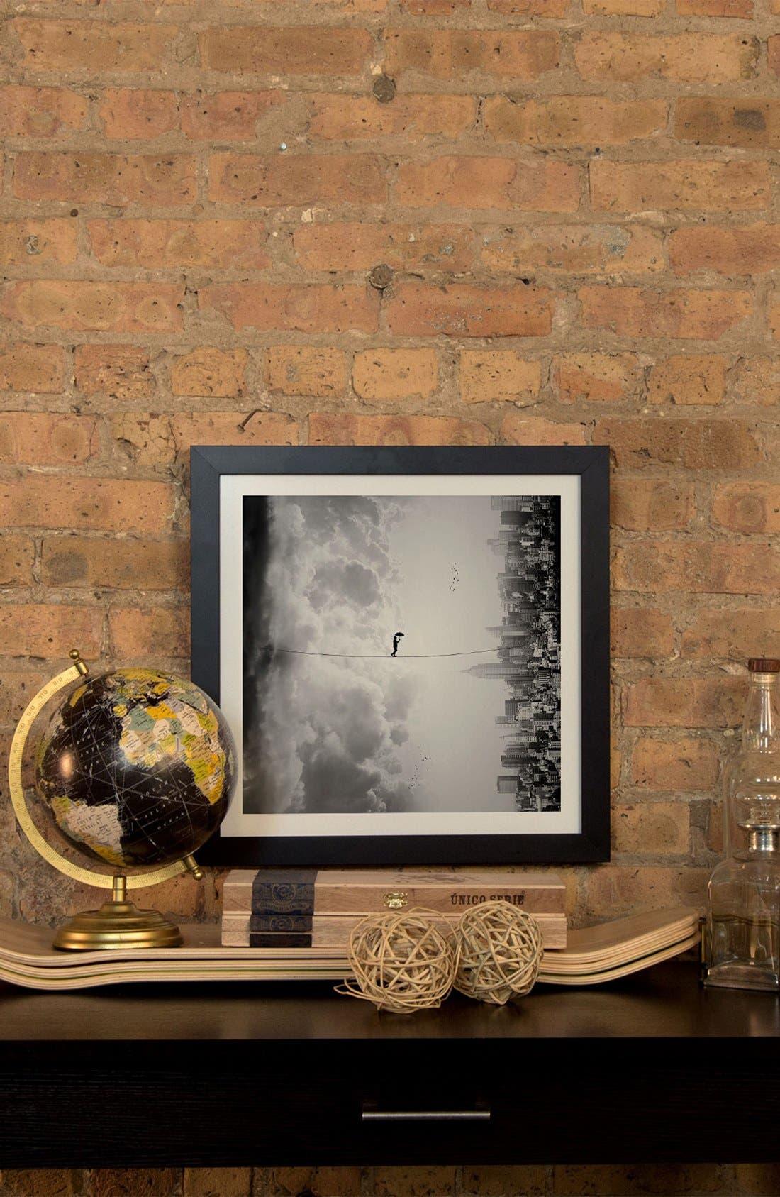 'Crossing' Framed Fine Art Print,                             Alternate thumbnail 2, color,                             Grey