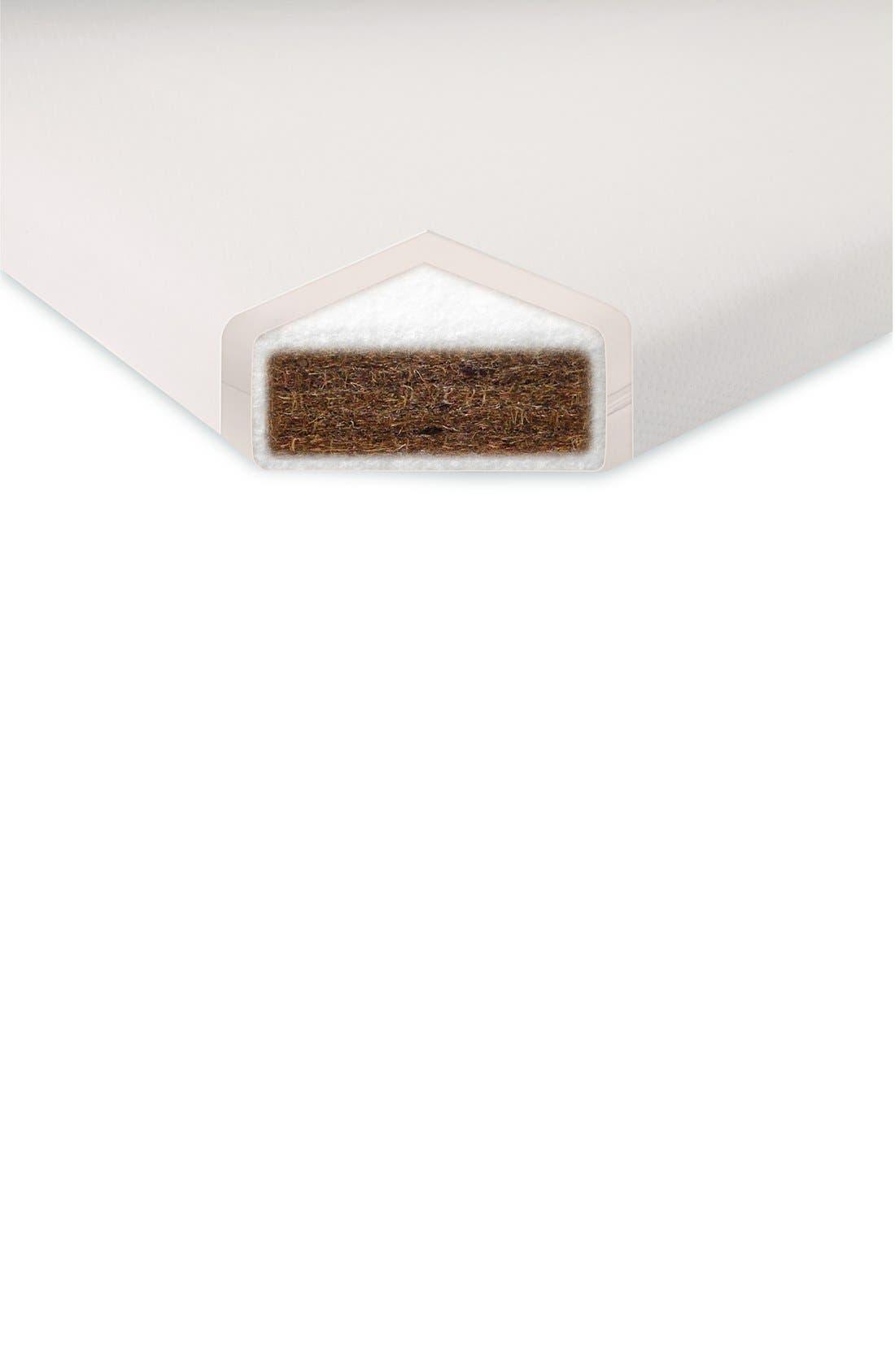 'Coco Core' Nontoxic Crib Mattress & Water Repellent SMART Cover,                             Alternate thumbnail 4, color,                             White