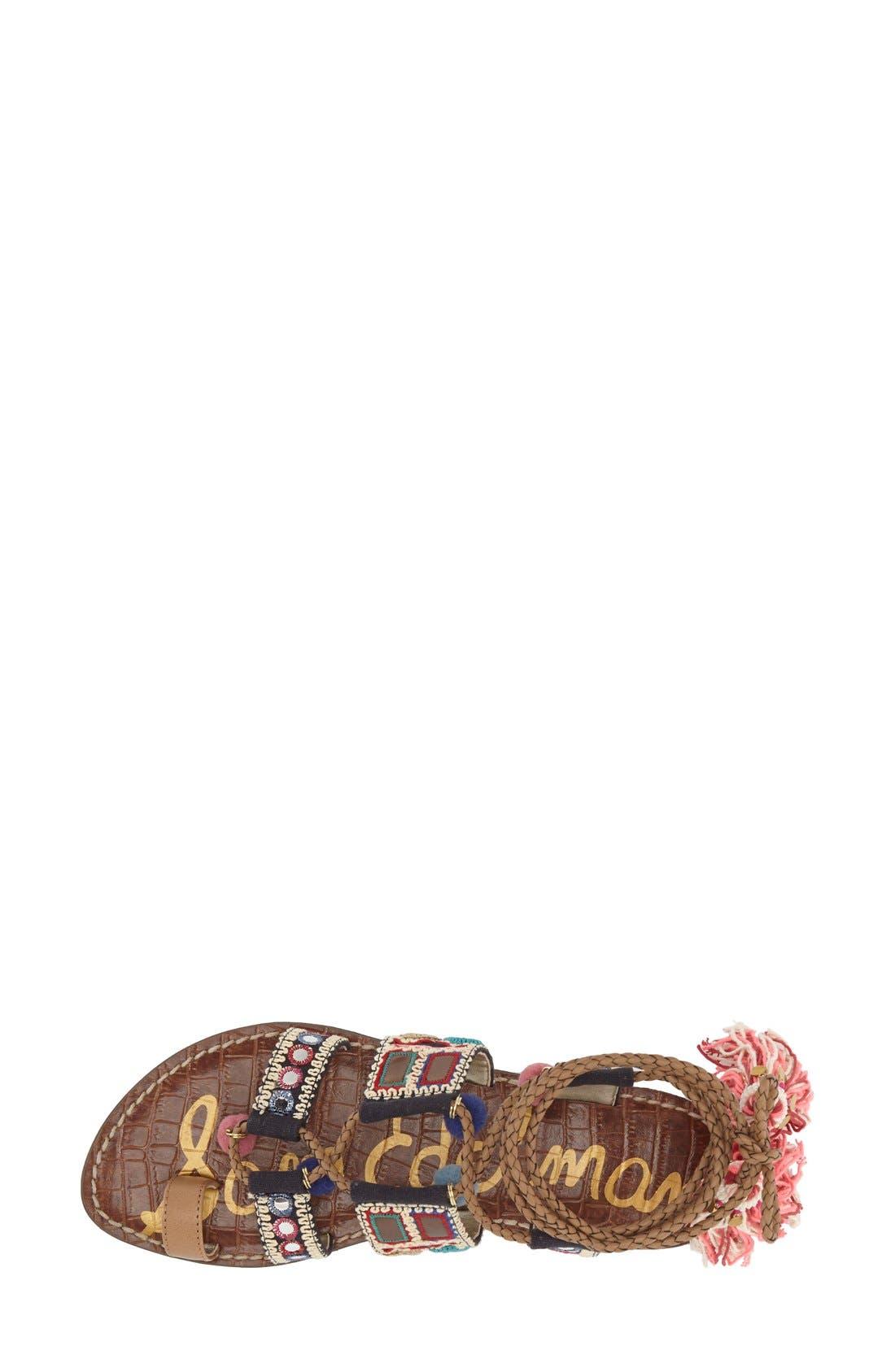 Alternate Image 3  - Sam Edelman 'Gretchen' Embellished Lace-Up Sandal (Women)