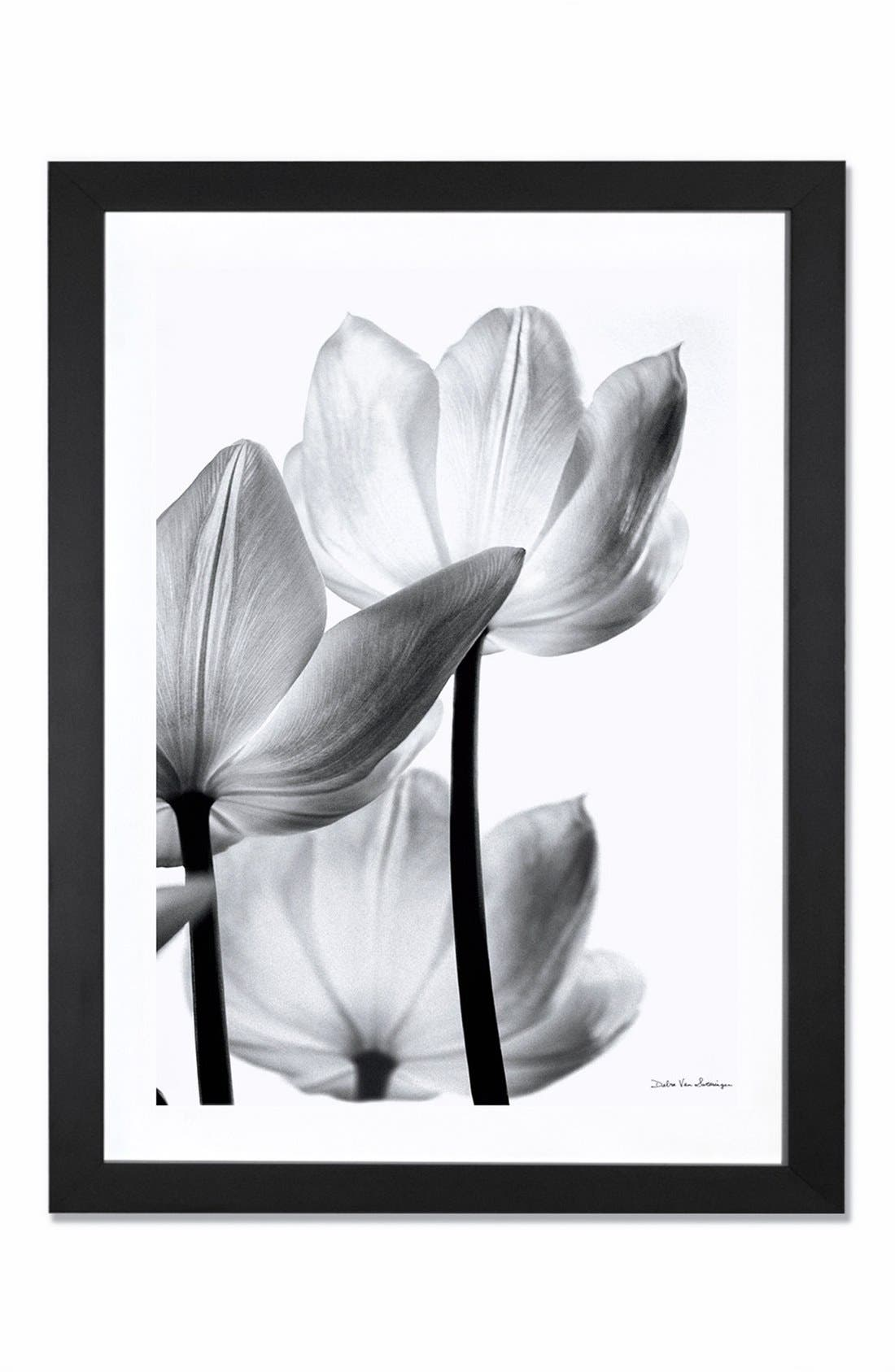 Alternate Image 1 Selected - iCanvas 'Translucent Tulip' Giclée Print Framed Canvas Art