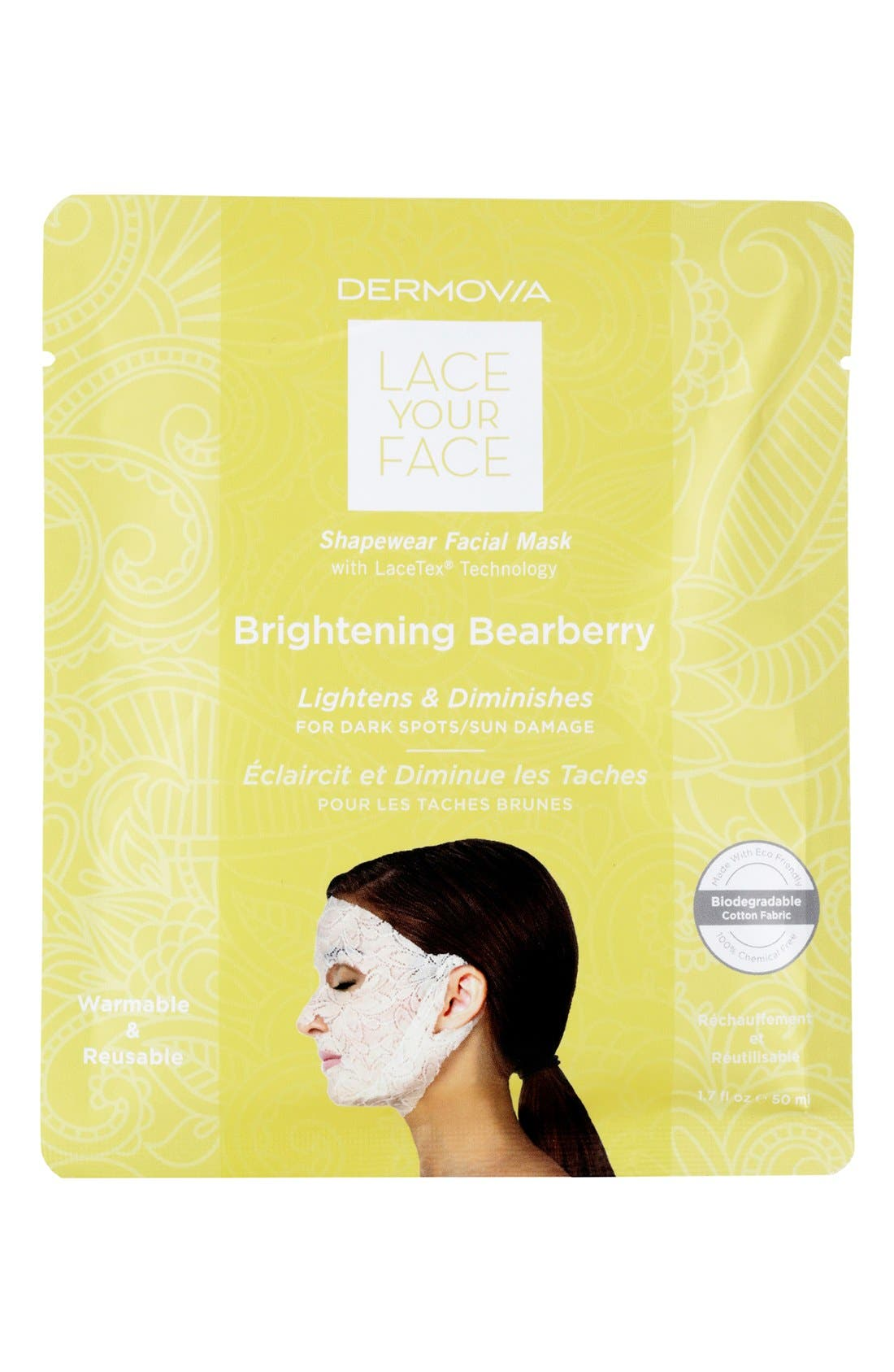 Dermovia Lace Your Face Brightening Bearberry Compression Facial Mask
