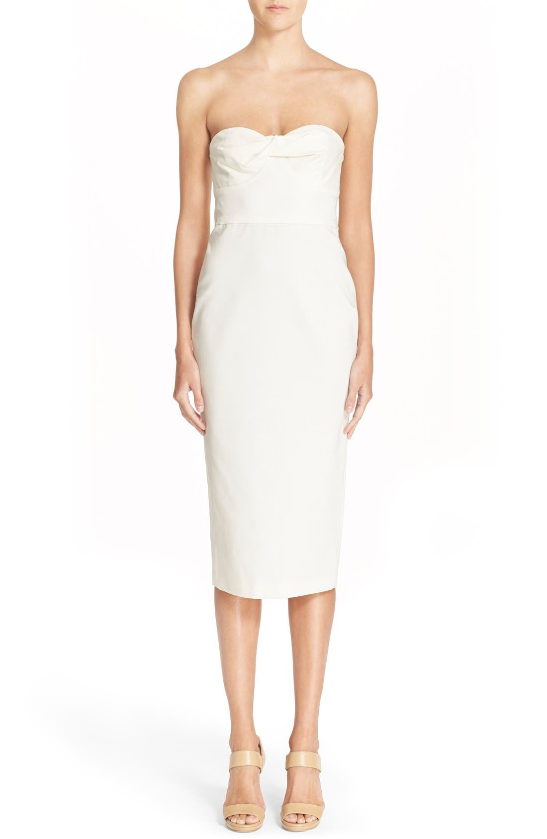 Main Image - Veronica Beard Strapless Bandeau Dress
