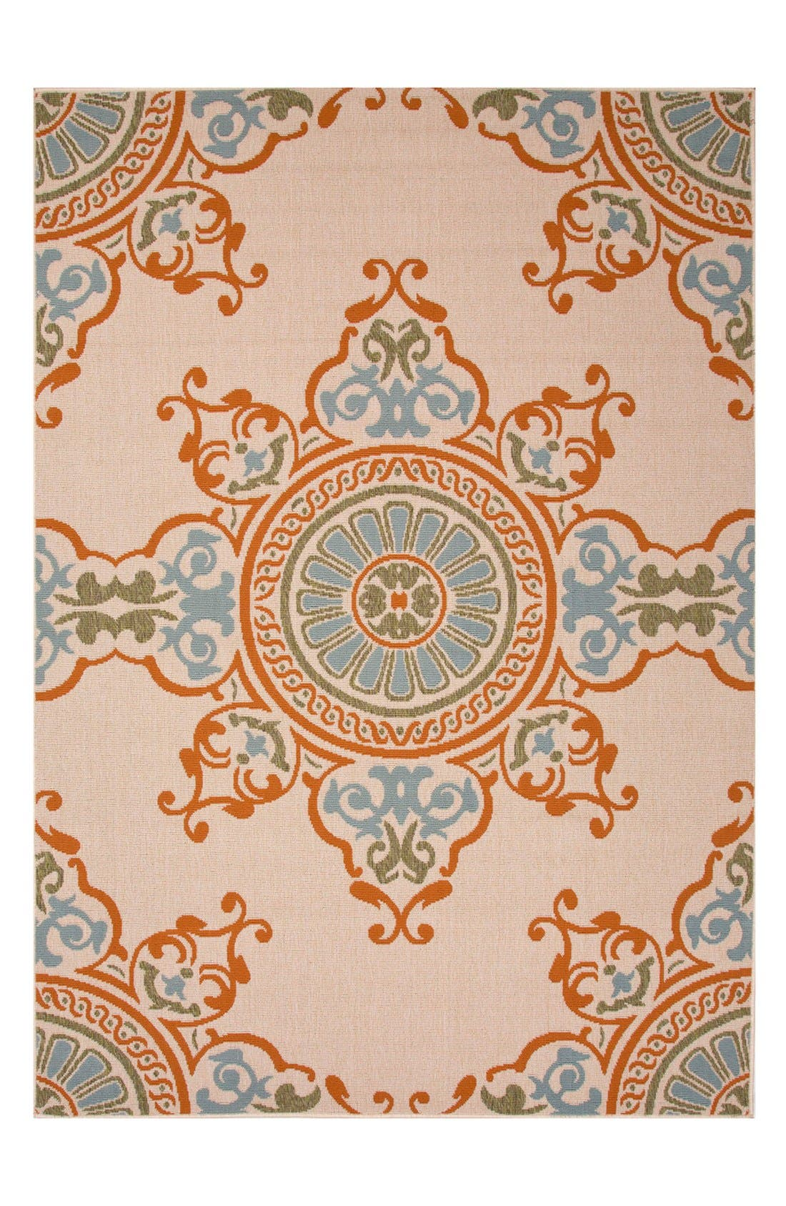 Main Image - Jaipur 'Bloom Medallion' Indoor/Outdoor Rug
