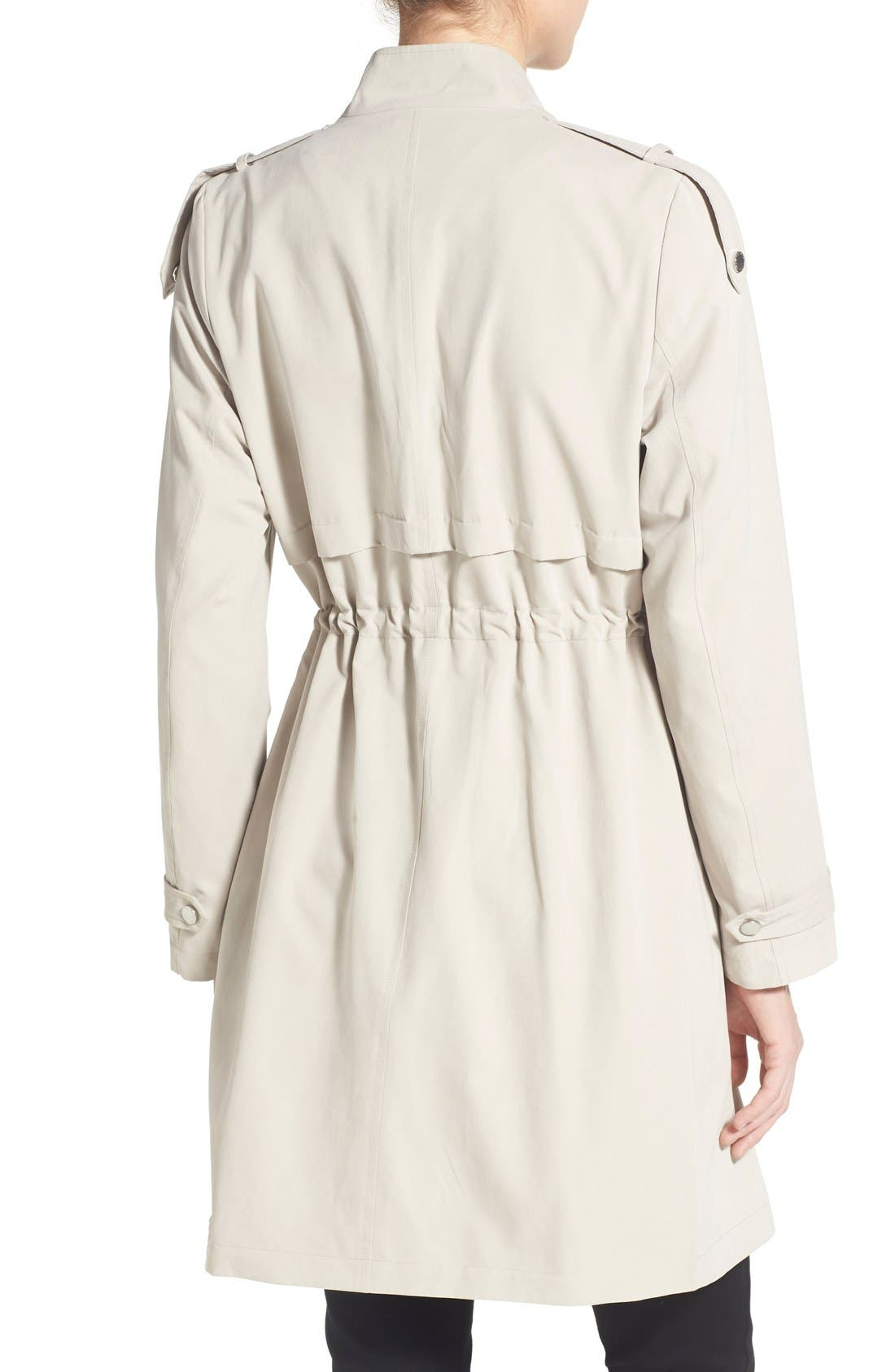 Alternate Image 2  - French Connection Drape Front Trench Coat