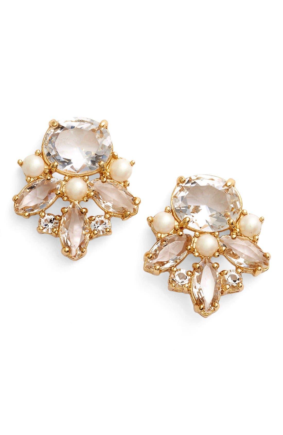 Alternate Image 1 Selected - kate spade new york 'chantilly' cluster stud earrings