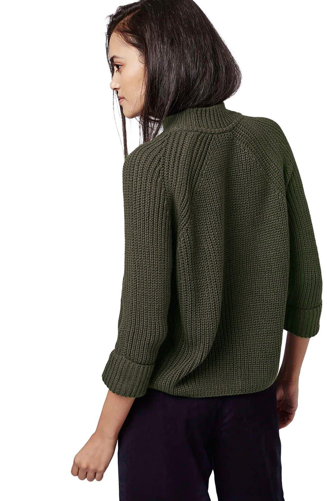 Alternate Image 3  - Topshop Mock Neck Raglan Sweater