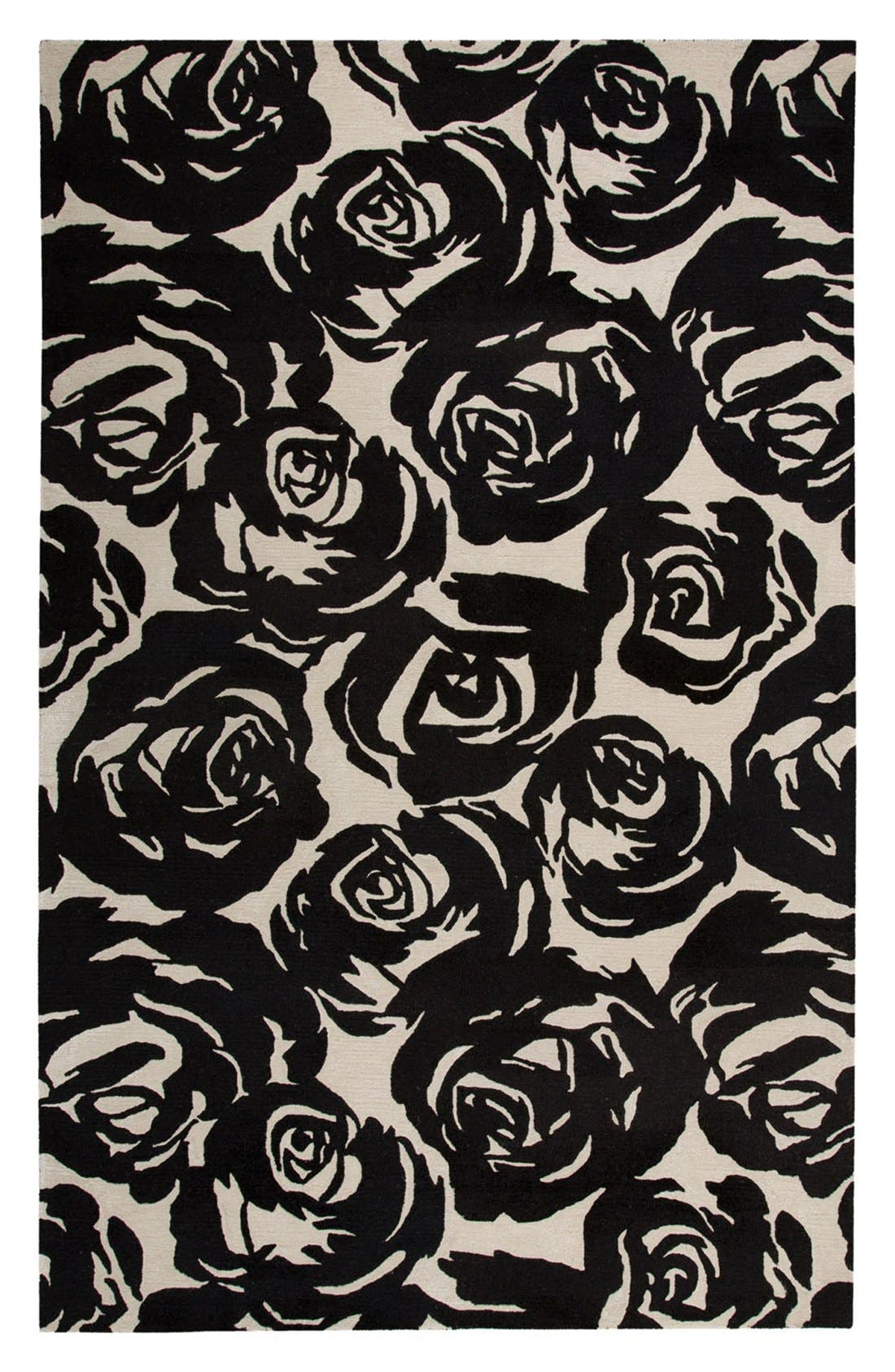 kate spade new york 'gramercy - floral' wool & silk rug