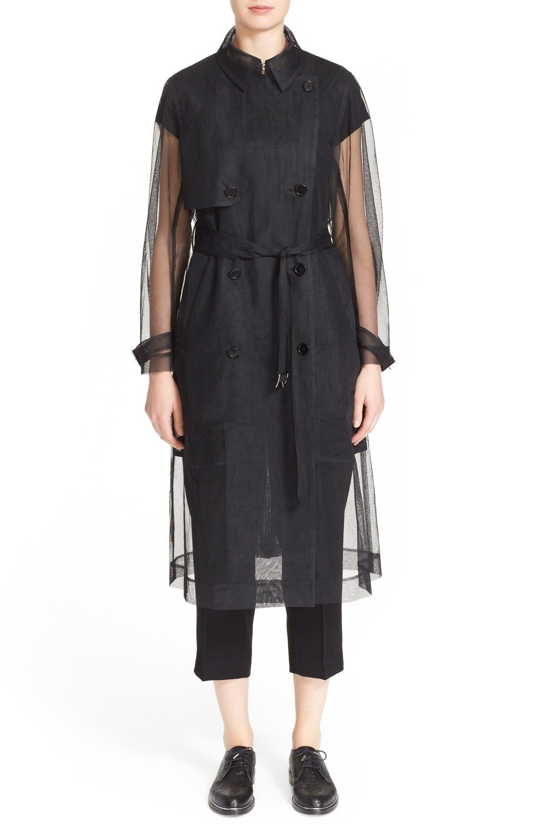 Alternate Image 5  - noir kei ninomiya Sheer Tulle Trench Coat