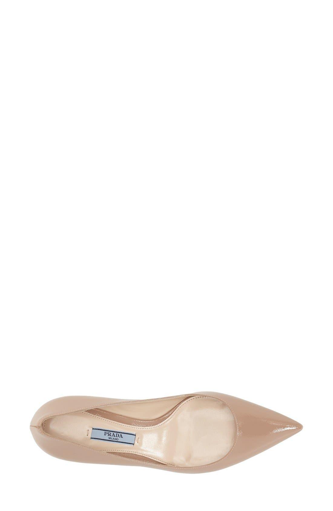 Alternate Image 3  - Prada Pointy Toe Pump (Women)