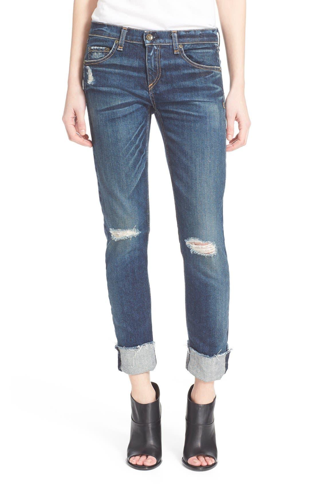 Alternate Image 1 Selected - rag & bone/JEAN 'The Dre' Slim Fit Boyfriend Jeans (Mabel)