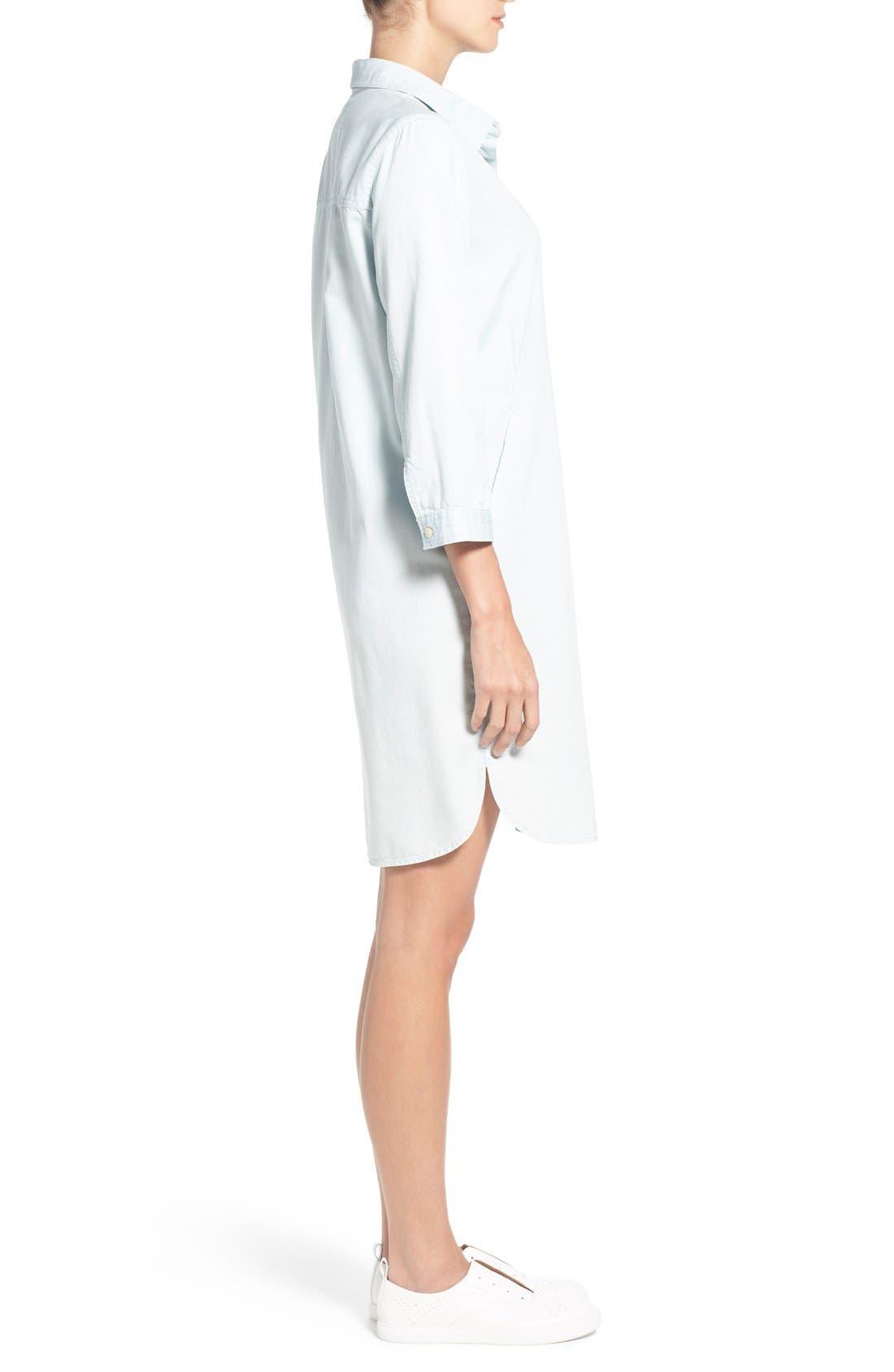 Alternate Image 3  - Caslon® Popover Shirtdress (Regular & Petite)