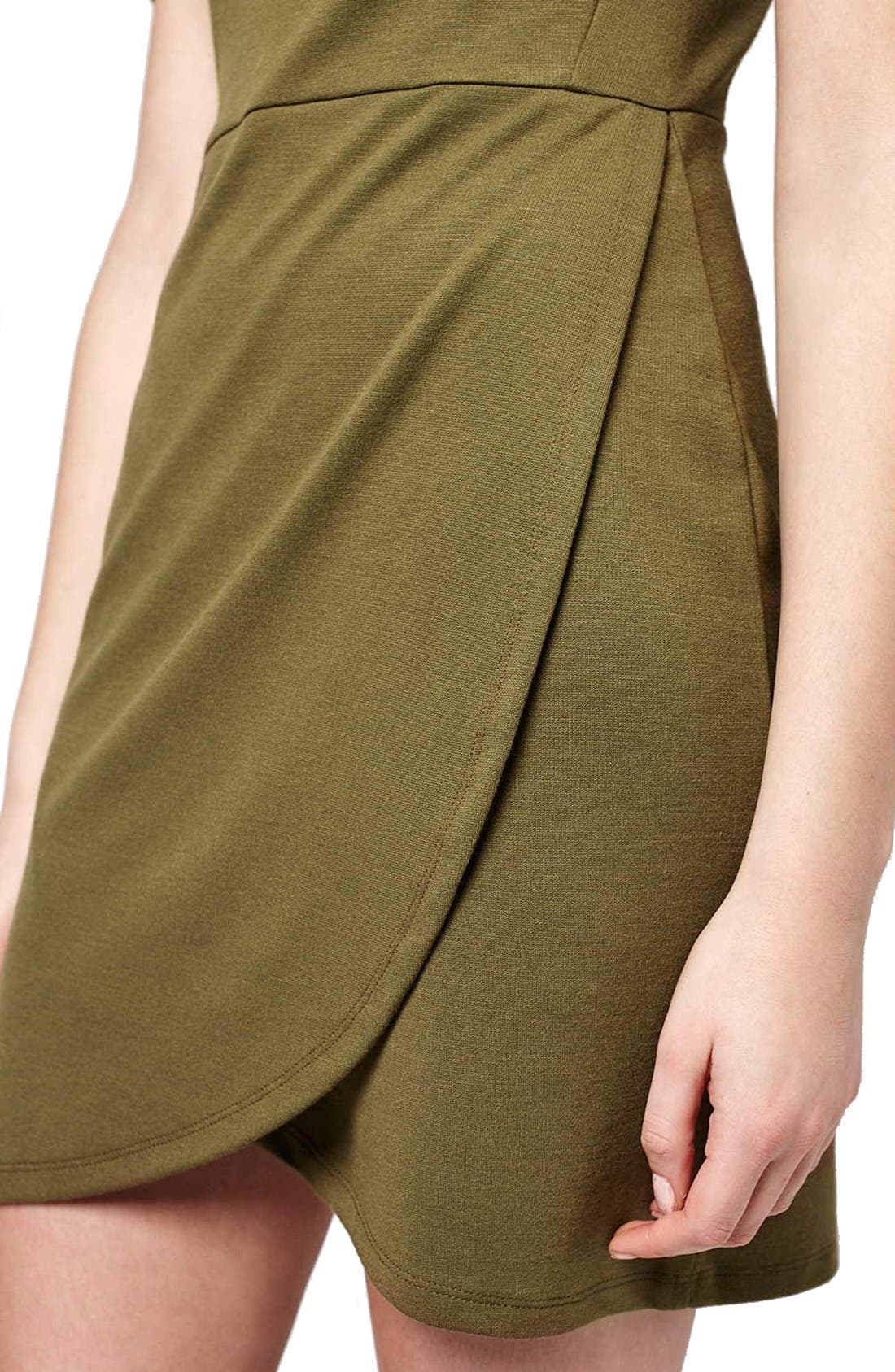 Alternate Image 4  - Topshop Faux Wrap Body-Con Dress (Petite)