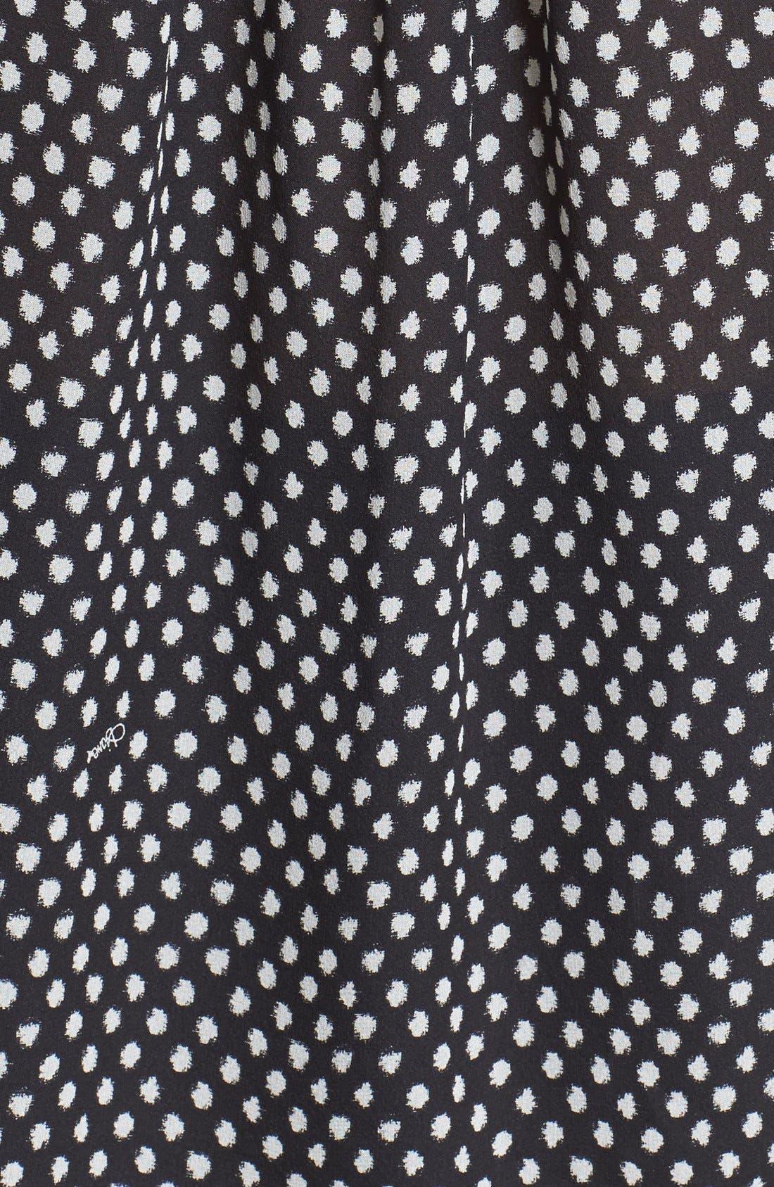 'Davi' Silk Peasant Top,                             Alternate thumbnail 4, color,                             Dotted Batik/ Tiny Black